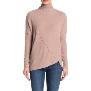 H By Bordeaux Mock Neck Ribbed Knit Pullover XL